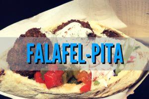 Vegane Pita mit selbstgemachten Falafel (Rezept)