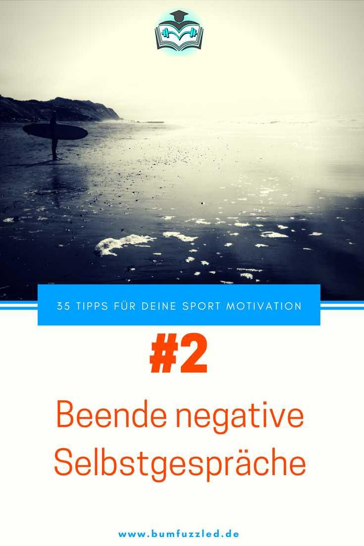 Tipp für deine Sport Motivation - beende negative Selbstgespräche