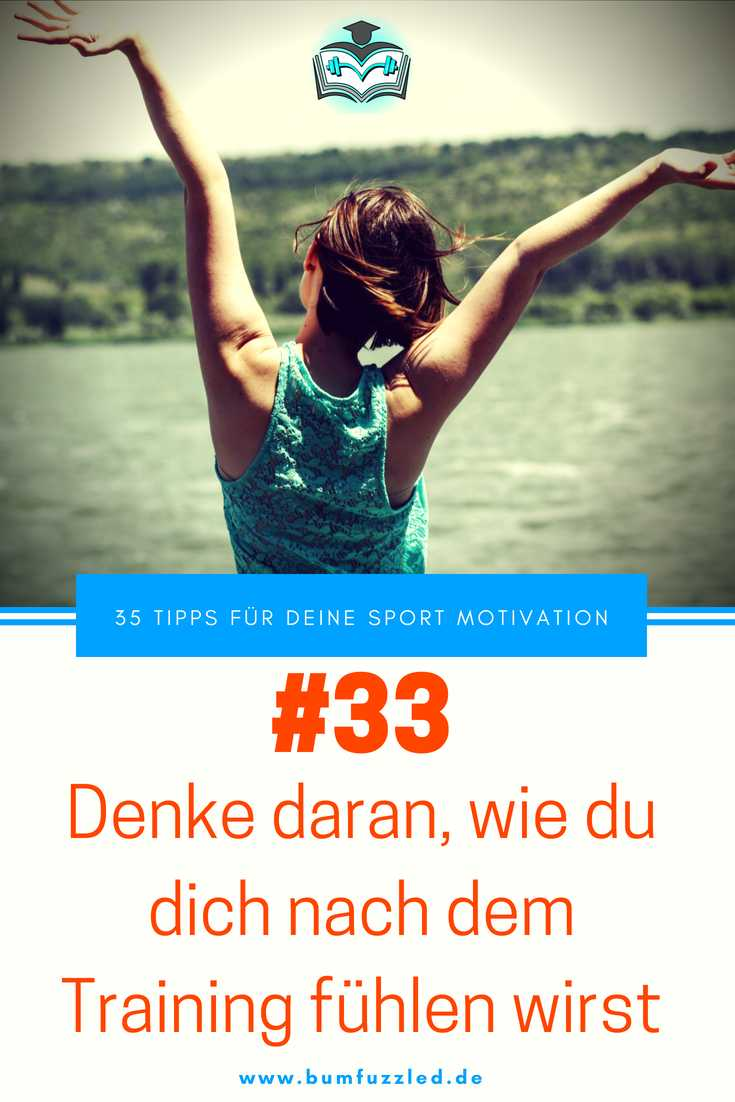 Post Workout Sport Motivation durch Glück