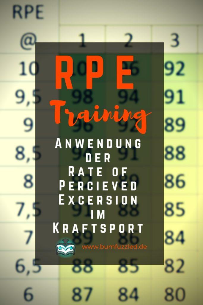 RPE Trainingsplan mit angepasster Intensität und Volumen durch Autoregulation.